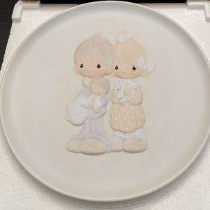 """Precious Moments """"Rejoicing with You"""" 1981 Plate"""